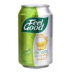 Feel Good Chá Verde com Laranja e Gengibre Lata 330ml